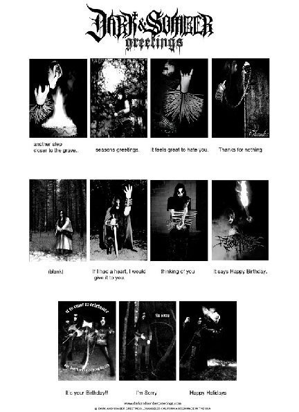 Dark somber greetings black metal greeting cards for all dark somber greetings is a los angeles based designer greeting card company currently offering eleven grim frostbitten ways to say hello happy holidays m4hsunfo