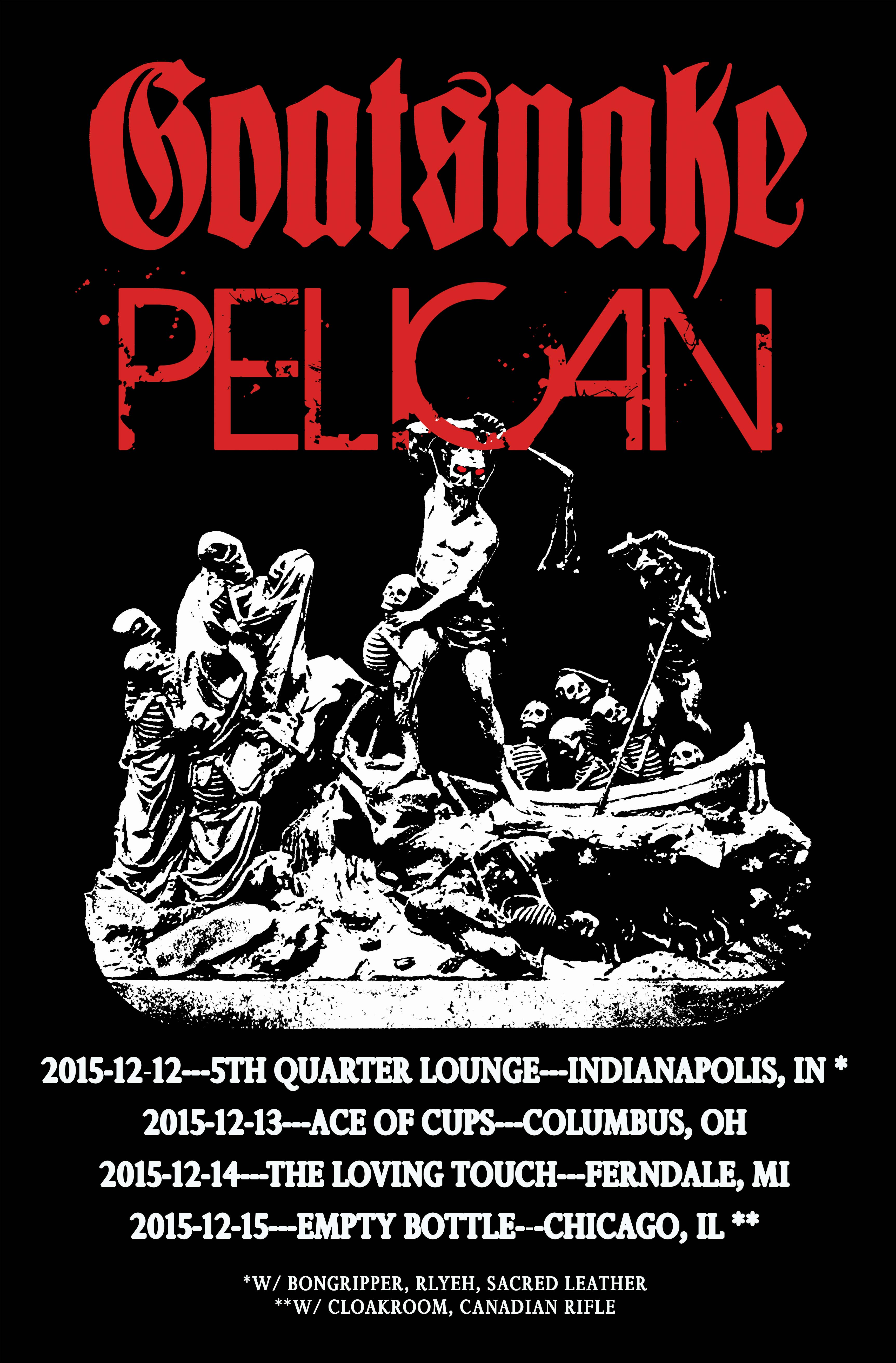 Goatsnake -Pelican Midwest poster