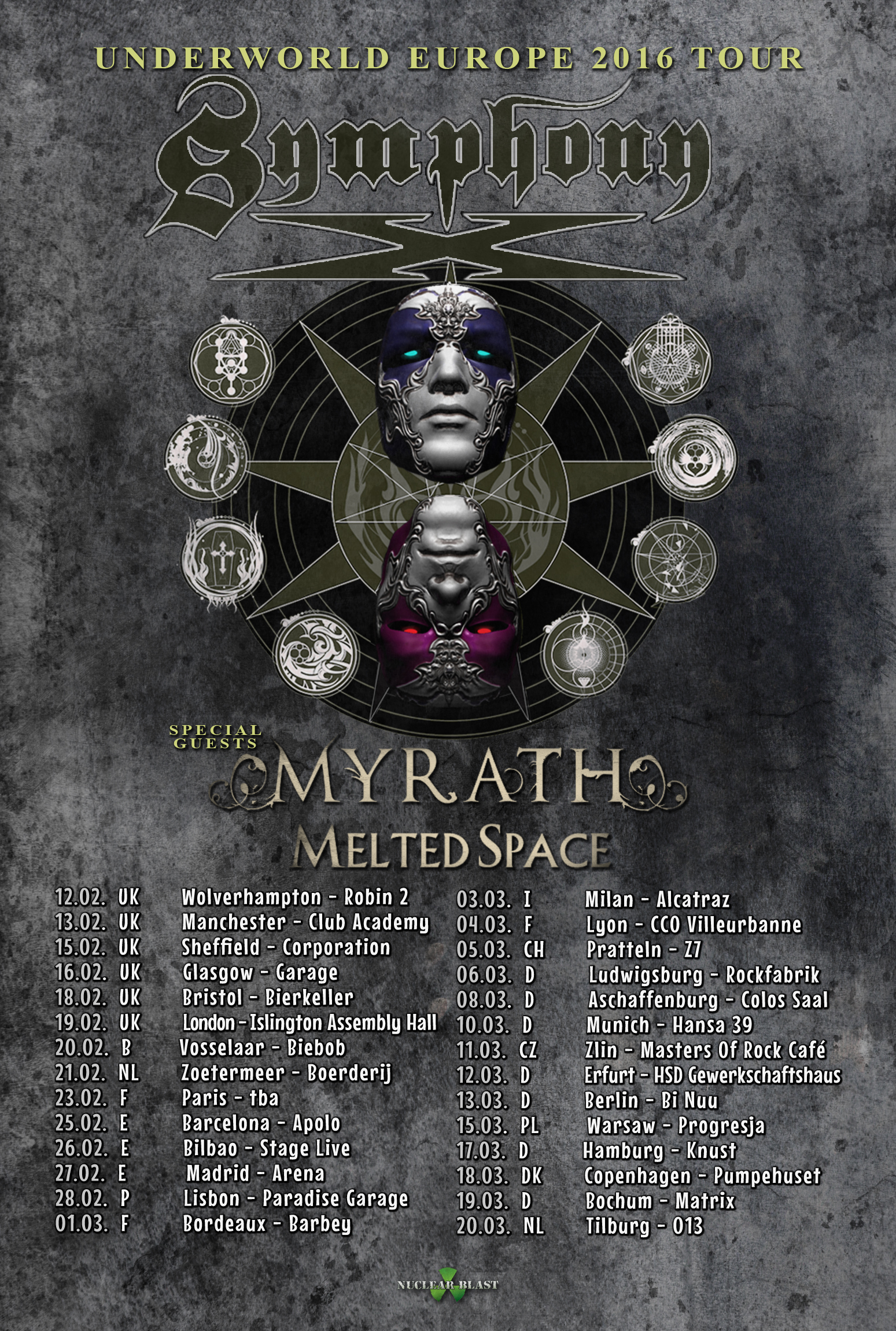 Symphony X Melted Space-Euro2016-Admat