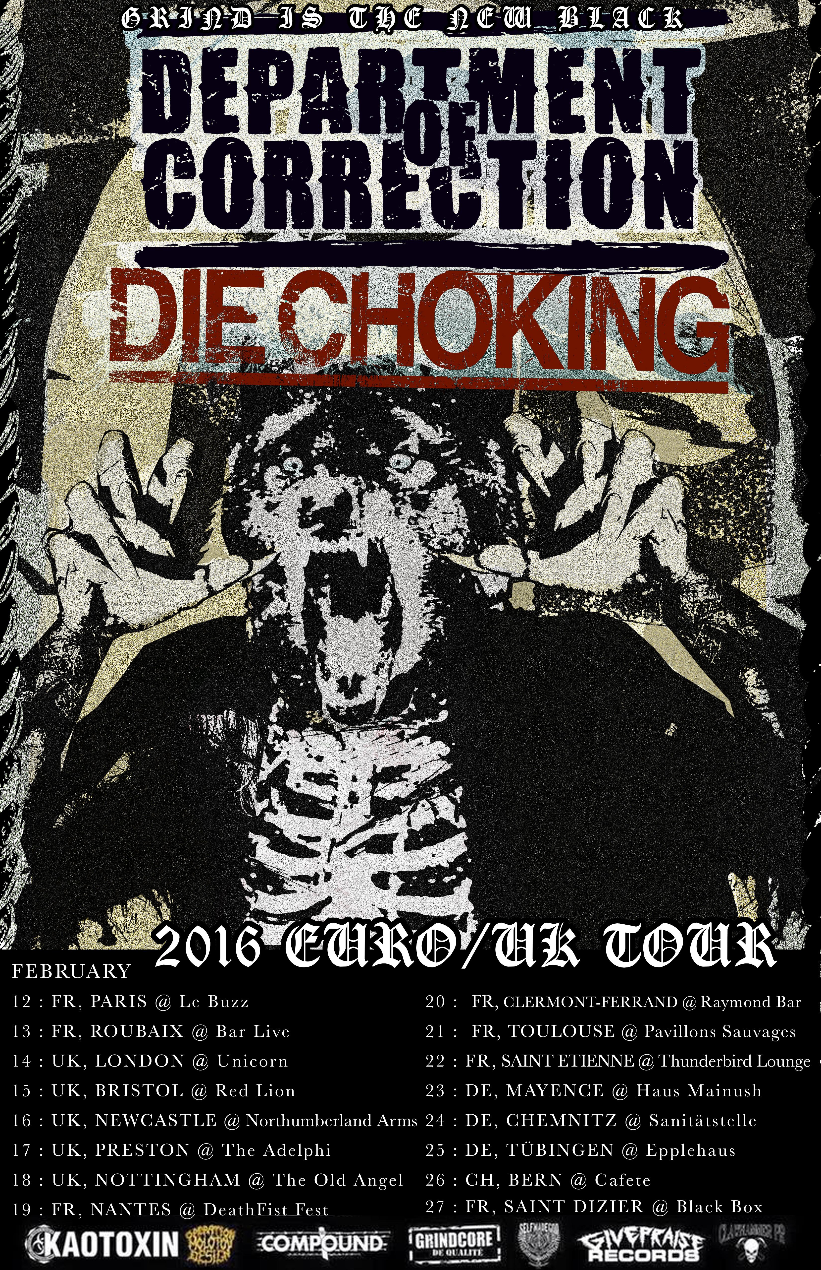 Die Choking - Department Of Correction -Europe