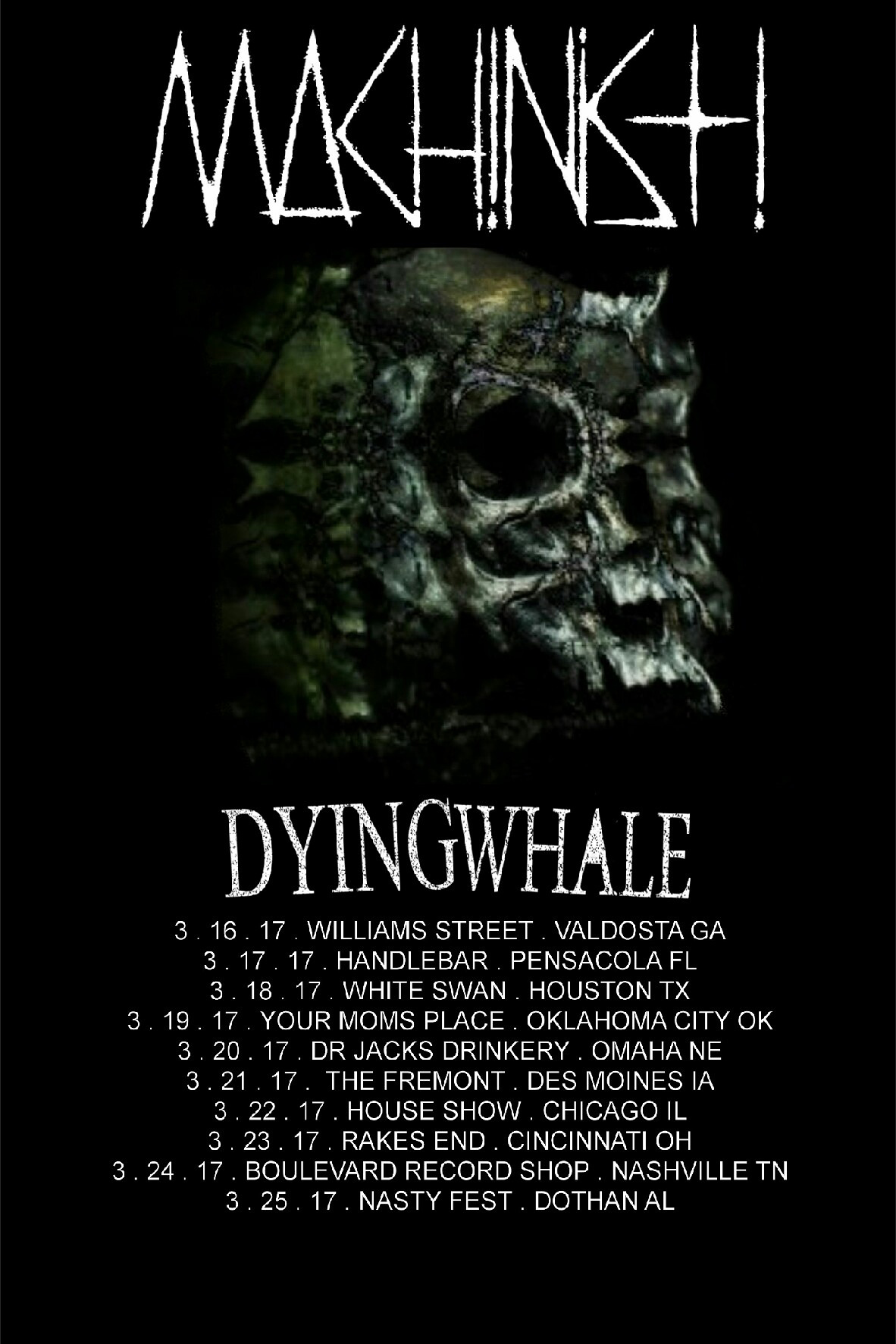 Dying Whale March tour