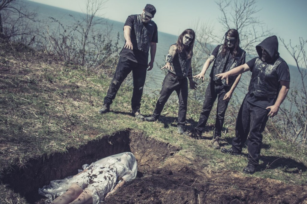 Crypt Rot video shoot [photo by Ed Battes]