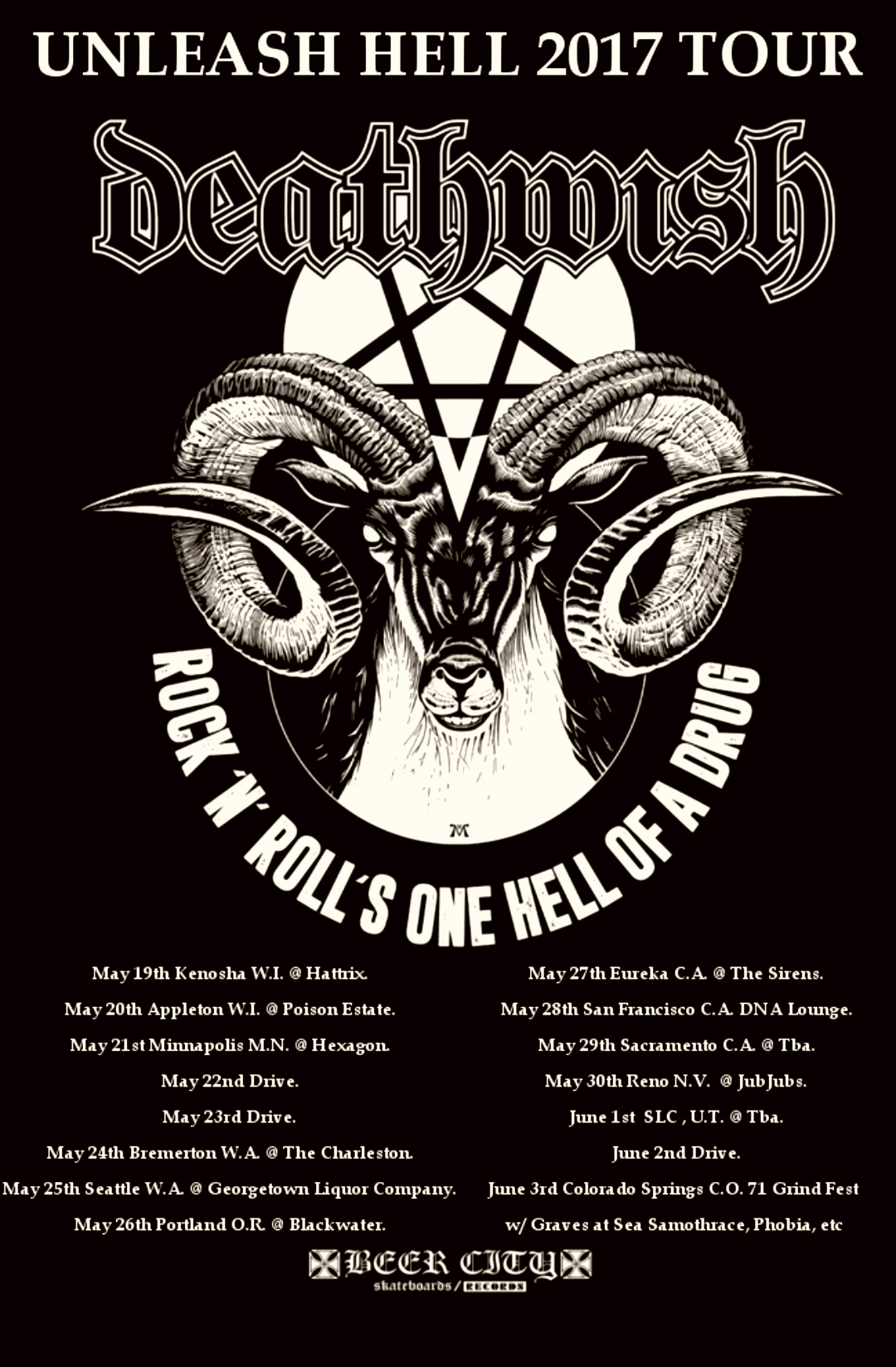Deathwish Unleash Hell Tour