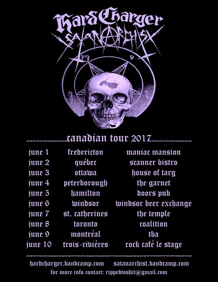 SATANARCHIST Canada Tour Poster