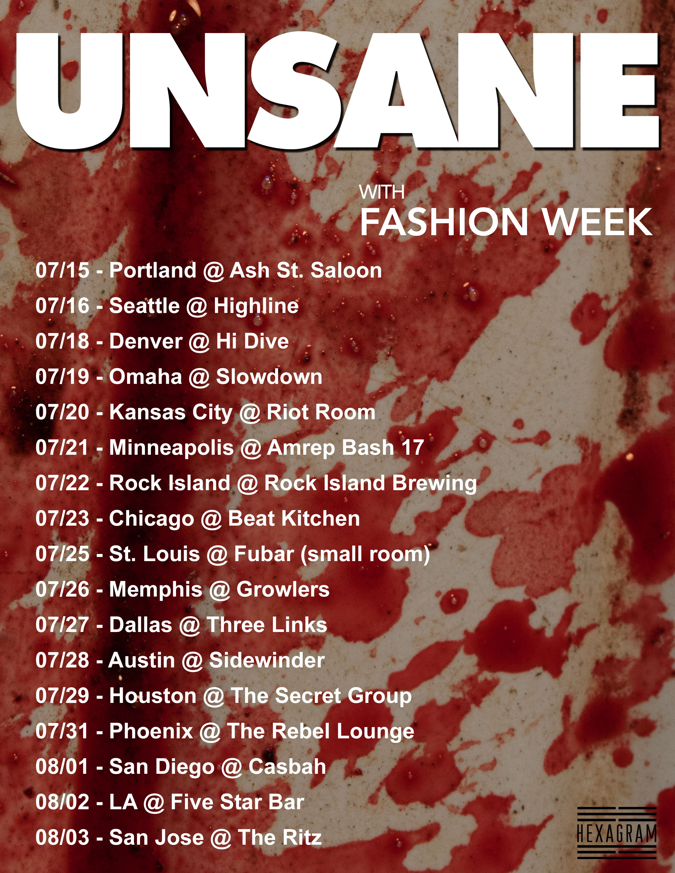 Unsane legendary noise rock trio to release eighth lp via booked around the bands performance at amrep bash 17 in minneapolis with fashion week providing support for the trek additional tour dates through malvernweather Choice Image