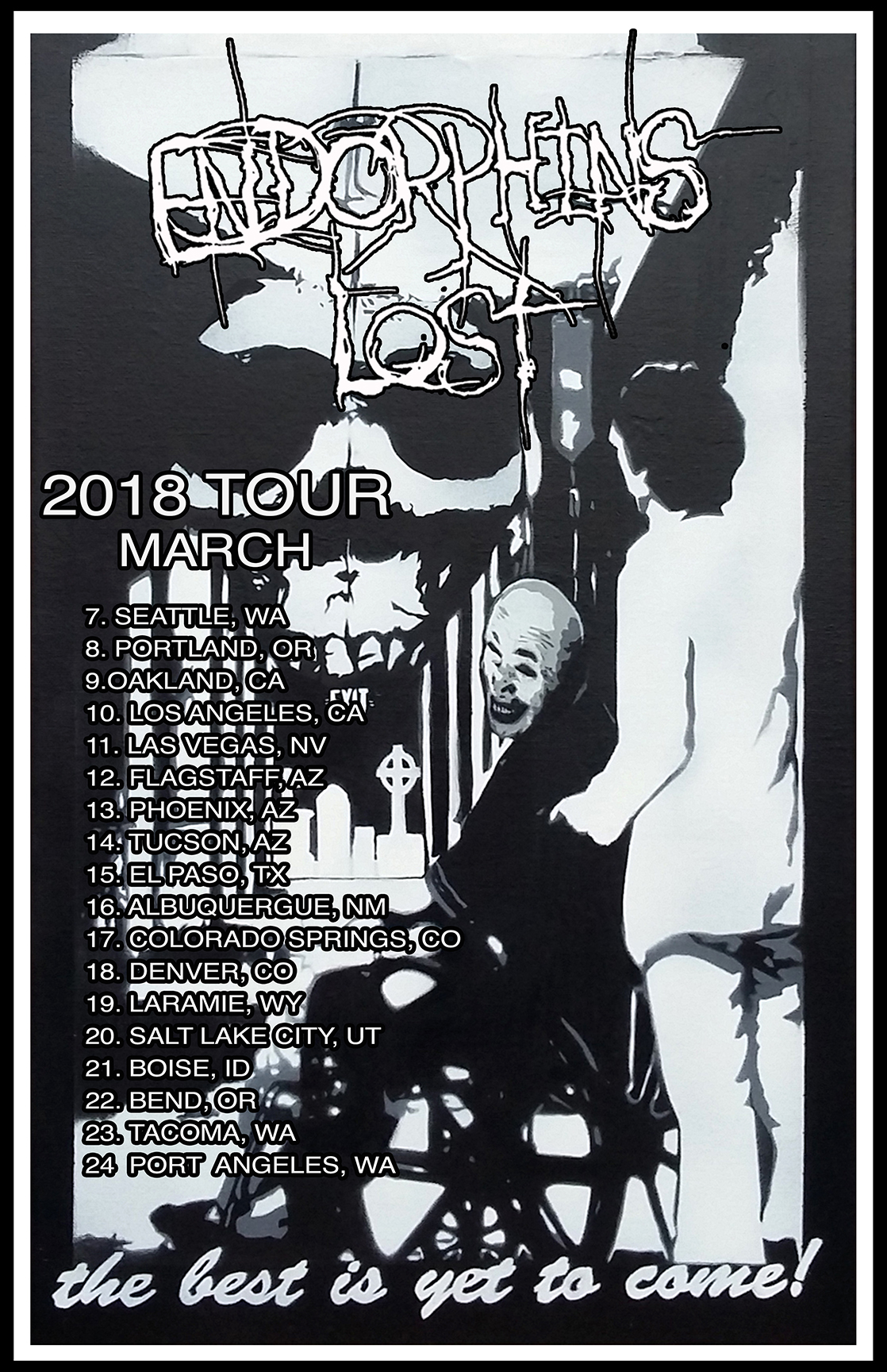 Endorphins Lost tour poster