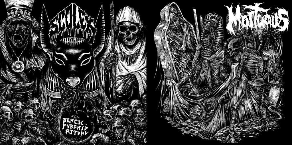 MORTUOUS & SCOLEX: California Death Dealers Unite To Release Two-Song Split Via Carbonized Records; Preorders Available