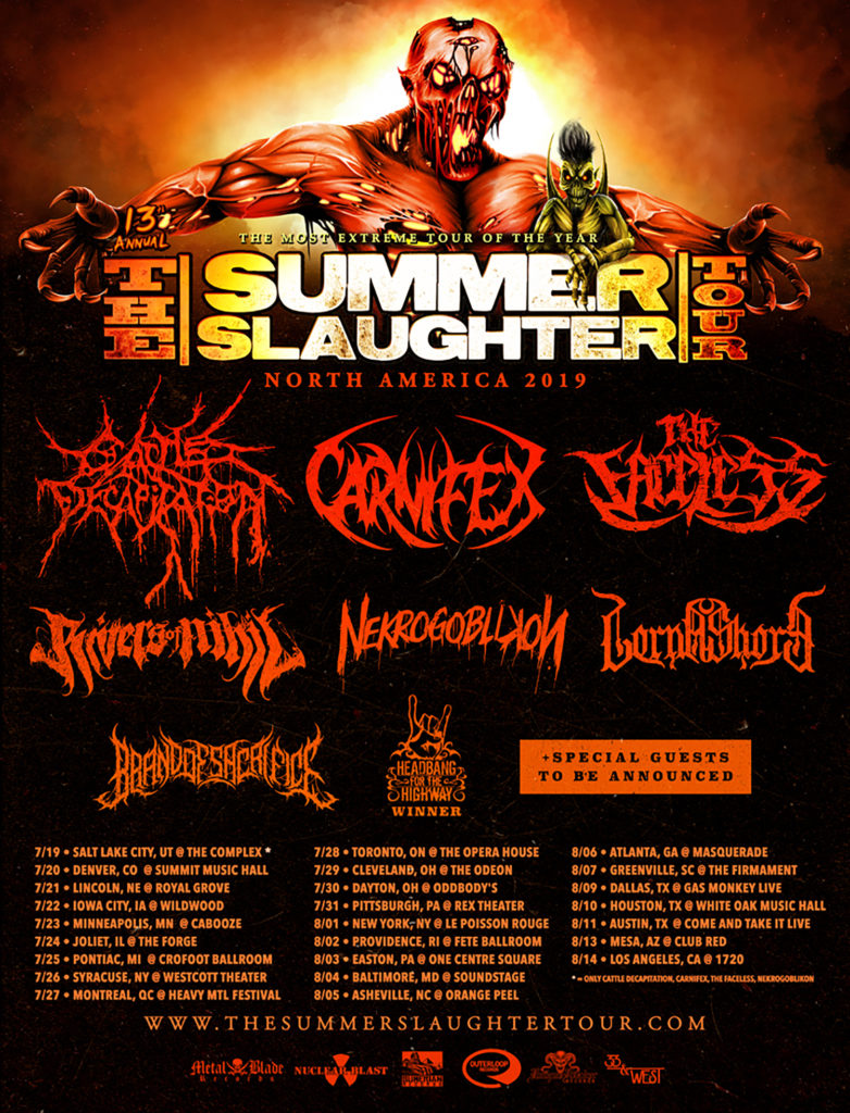 RIVERS OF NIHIL To Kick Off North American Live Takeover, Including
